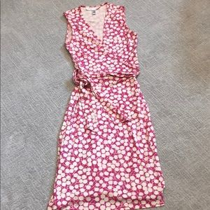 Diane Von Furstenberg Pink Wrap Dress